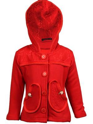 Ziama 6259 Red Girl Hooded Sweatshirts