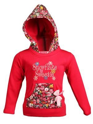 Ziama 6276 Red Girl Hooded Sweatshirts