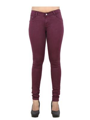 EBONY-nx 0.65 Maroon Women Jeans