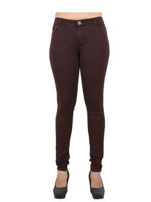 EBONY-nx 0.65 Brown Women Jeans