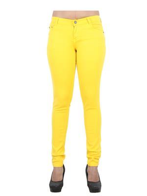 EBONY-nx 0.65 Yellow Women Jeans