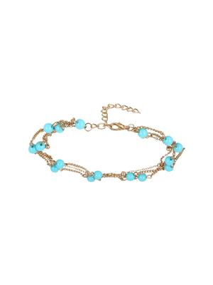 Fayon 70047 Blue Women Anklets and Payals