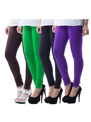 Medha 702130823 Multicolored Women Legging Set Of 4