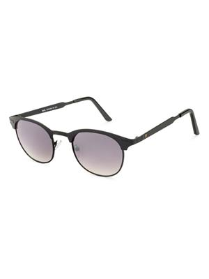 Rafa 7021BLKGRADGREY Black Unisex Round Sunglasses