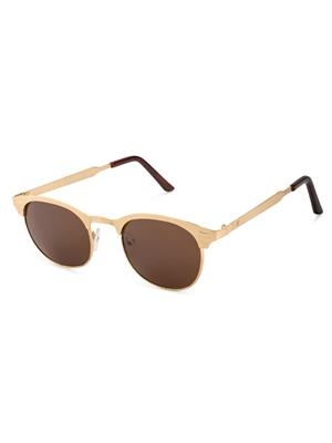 Rafa 7021GLDBRN Golden Unisex Round Sunglasses
