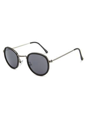 Rafa 7029BLKGUN Black Unisex Round Sunglasses