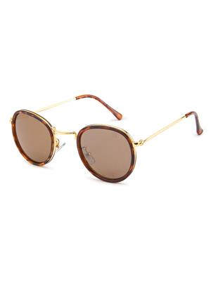 Rafa 7029BRN Brown Unisex Round Sunglasses