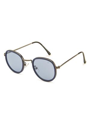 Rafa 7029GUNBLUE Grey Unisex Round Sunglasses