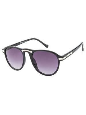Rafa 7038BLKGRDGREY Black Unisex Oval Sunglasses