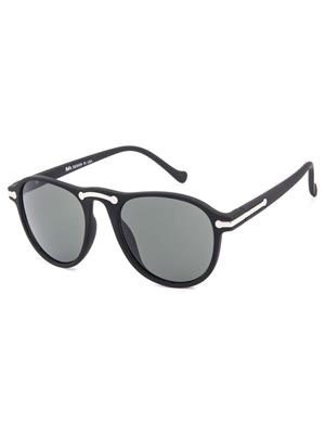 Rafa 7038BLKSMK Black Unisex Oval Sunglasses