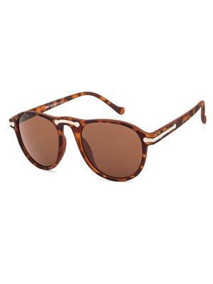 Rafa 7038DEMI Brown Unisex Oval Sunglasses
