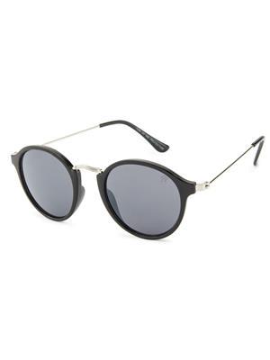 Rafa 7069BLKSILSMK Black Unisex Round Sunglasses