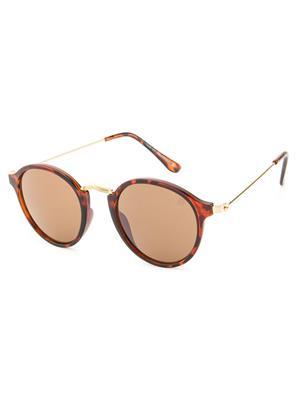 Rafa 7069DEMIBRN Brown Unisex Round Sunglasses