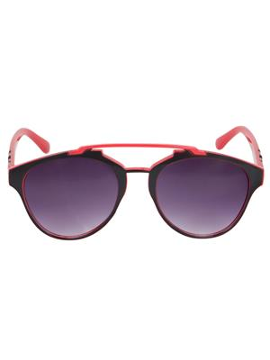 Adine  71203-Black-Red Wayfarer Sunglasses