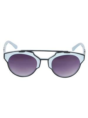 Adine  71204-Black-Blue Wayfarer Sunglasses