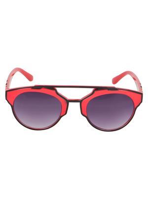 Adine  71204-Black-Red Wayfarer Sunglasses