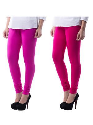 Medha 71606 Multicolored Women Legging Set Of 2