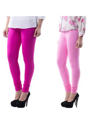 Medha 71617 Multicolored Women Legging Set Of 2