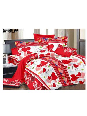 Luxe 7200RED Red Double Bedsheet