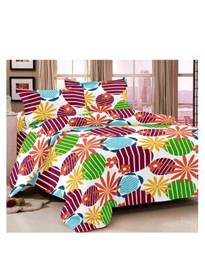 Luxe 7253PIN Multicolor Double Bedsheet
