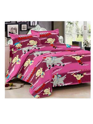 Luxe 7298PIN Multicolor Double Bedsheet