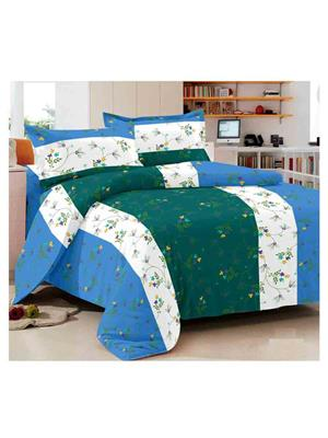 Luxe 7338BLGR Multicolor Double Bedsheet