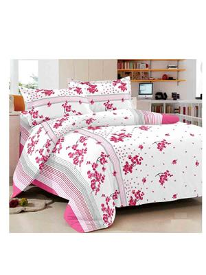 Luxe 7356PIN Pink Double Bedsheet