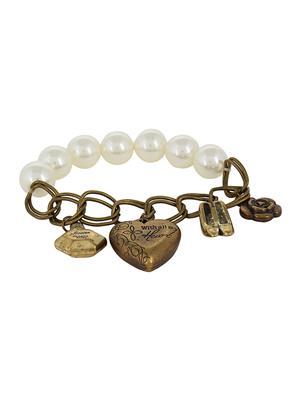 Fayon 78003 Cream Women Charm Bracelet