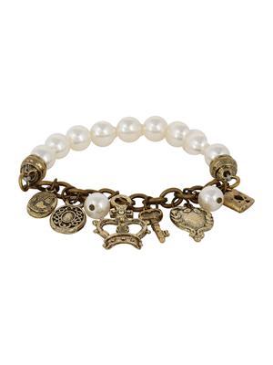 Fayon 78009 Cream Women Charm Bracelet