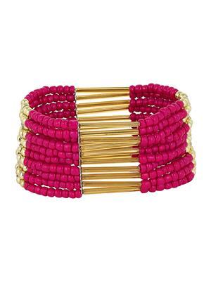 Fayon 78016 Pink Women Beaded Bracelet