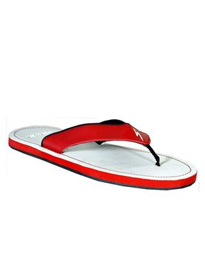 Stylar 801-5111 White-Red Men Flip Flops