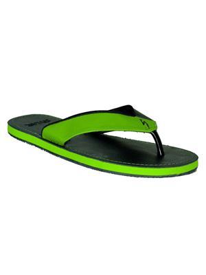 Stylar 801-7661 Black-Green Men Flip Flops