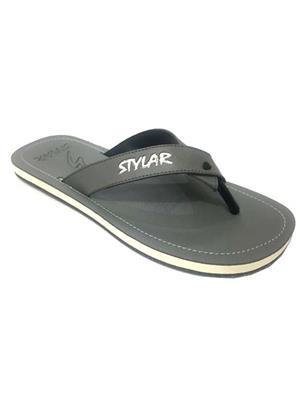 Stylar 802-1102 Grey Men Flip Flops