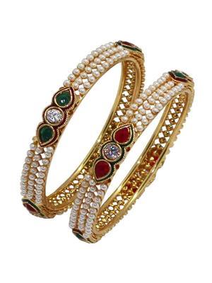 Soni Art Jewellery 80 White Women Bangles