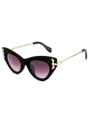 Rafa 81527BLKGRY Black Unisex Cateye Sunglasses
