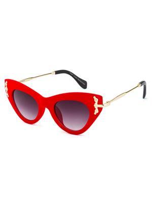 Rafa 81527REDGRY Red Unisex Cateye Sunglasses