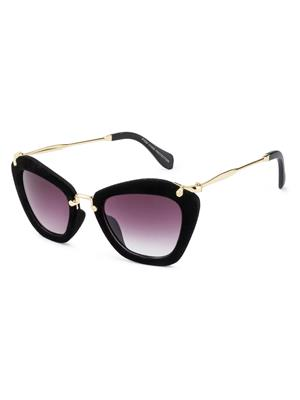 Rafa 81528BLKGRY Black Unisex Cateye Sunglasses