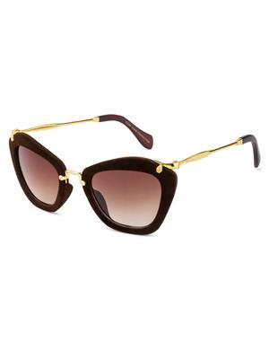 Rafa 81528BRN Brown Unisex Cateye Sunglasses