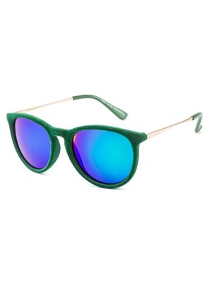 Rafa 81529GRNMIRSMK Green Unisex Oval Sunglasses