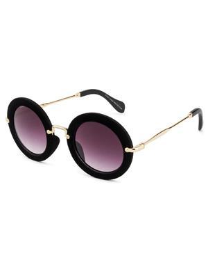 Rafa 81530BLKGRY Black Unisex Round Sunglasses