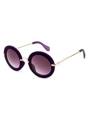 Rafa 81530PURP Purple Unisex Round Sunglasses