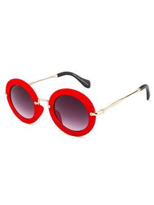 Rafa 81530REDGRY Red Unisex Round Sunglasses