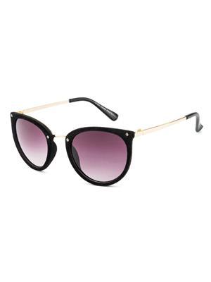 Rafa 81531BLKGRY Black Unisex Round Sunglasses