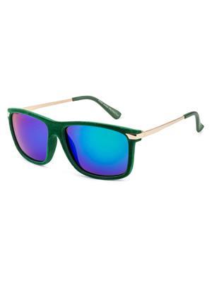 Rafa 81532GRNMIRSMK Green Unisex Wayfarer Sunglasses