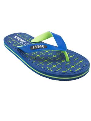 Stylar 816-7900 Blue Men Flip Flops
