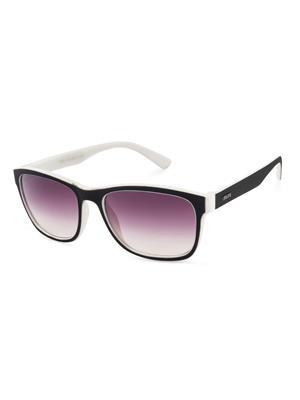 Rafa 81856BLKWHTGRY Black Unisex Wayfarer Sunglasses