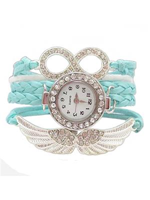 Shreya Collection 820 Blue Leather Vogue Bracelet Watch