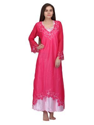Valentine 8315Pk Pink Women Nighty set