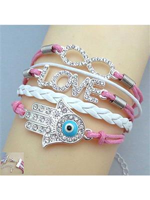 Shreya Collection 837 Fashion Pink Charm Love Bracelet
