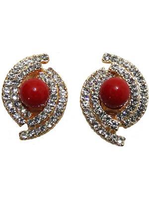 Shreya Collection 846-1 Maroon-White Women Earring